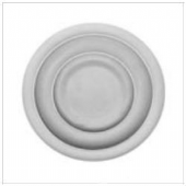 "9"" Shallow Plain Plaster Ceiling Rose 229mm"